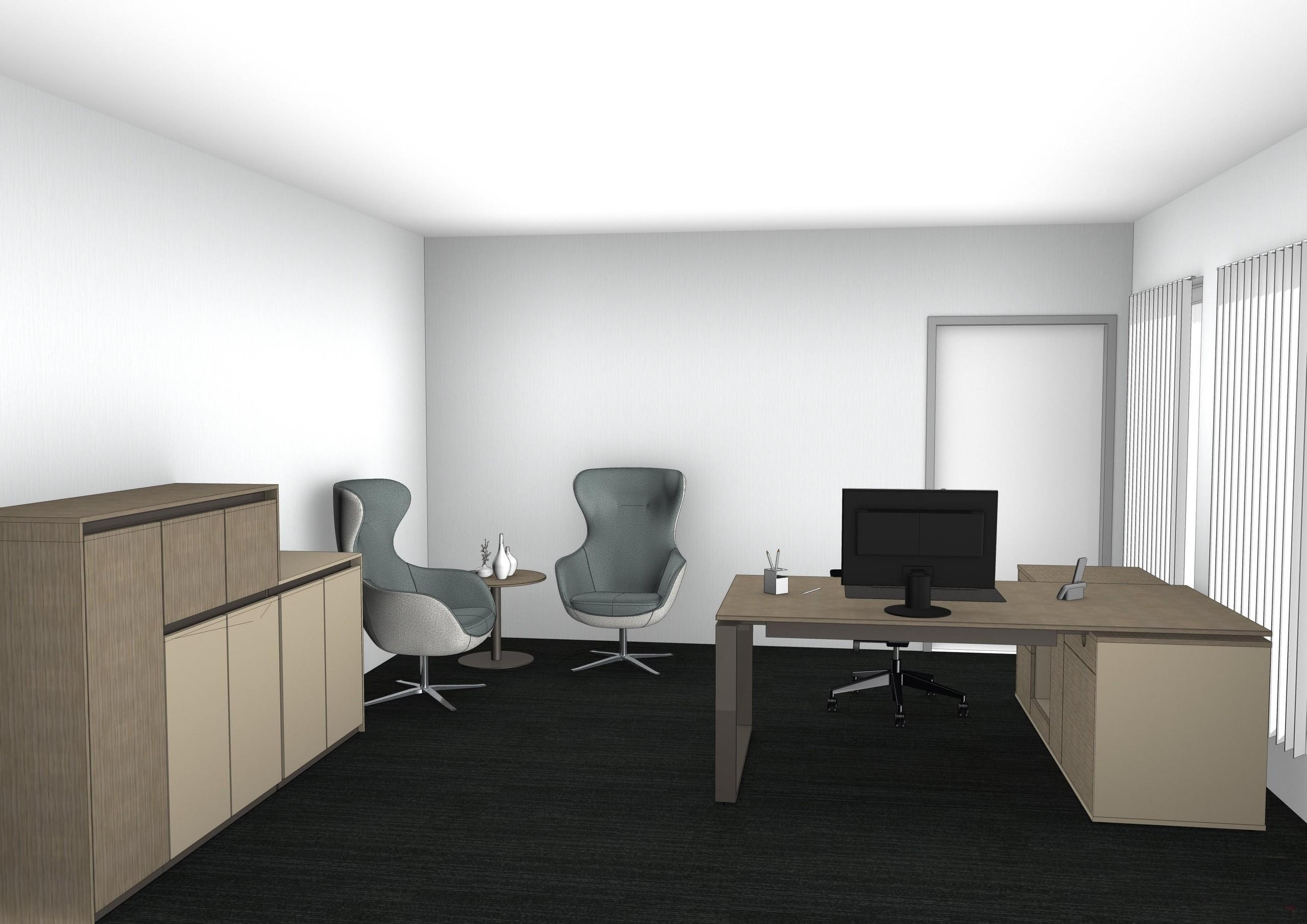 Einzelbüro schlicht