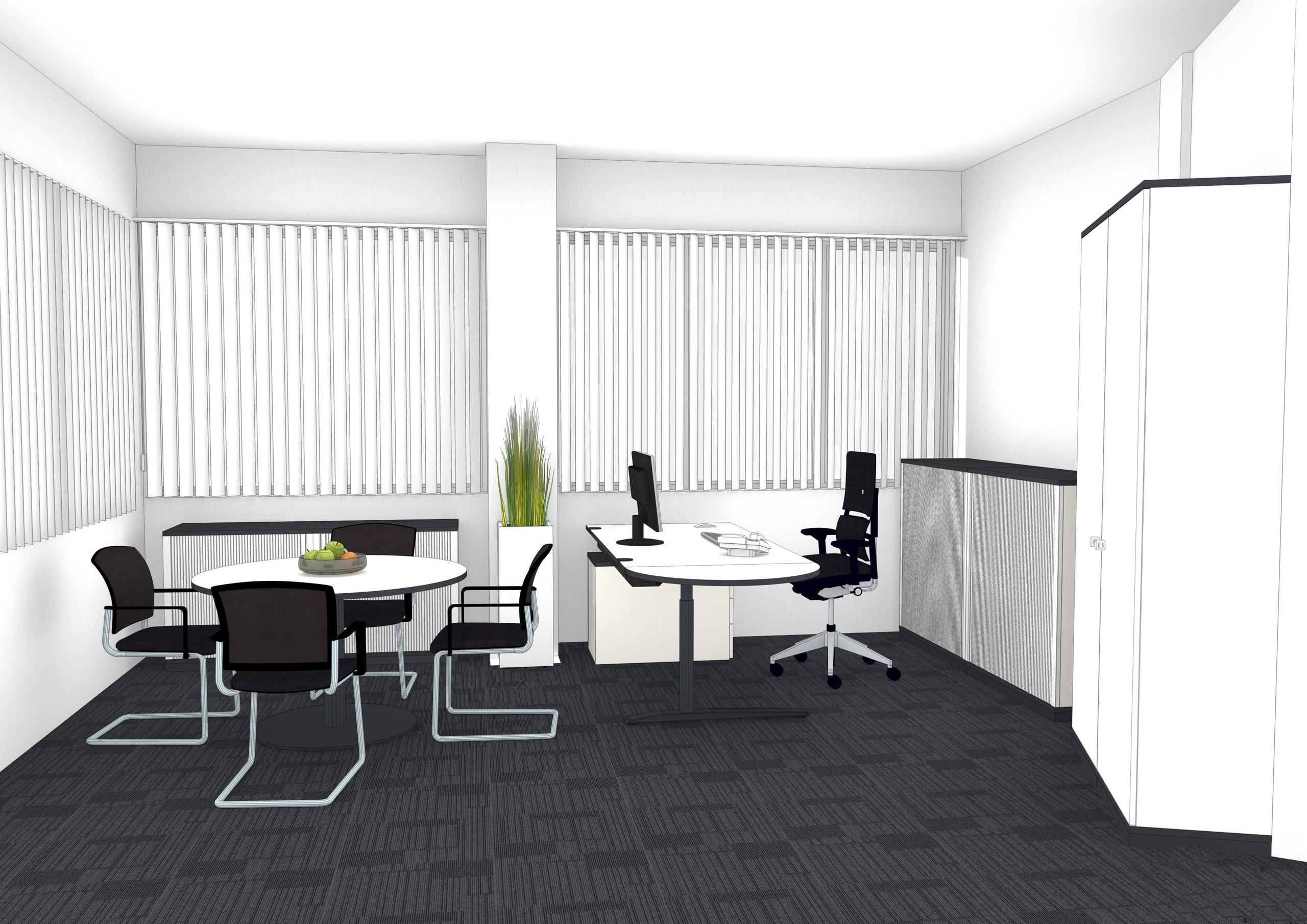 Einzelbüro schlicht 2