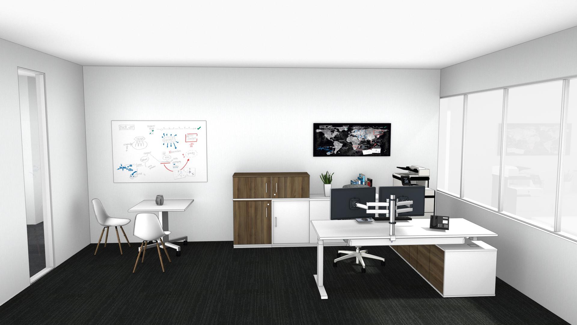 Einzelbüro mit separate Besprechungsecke