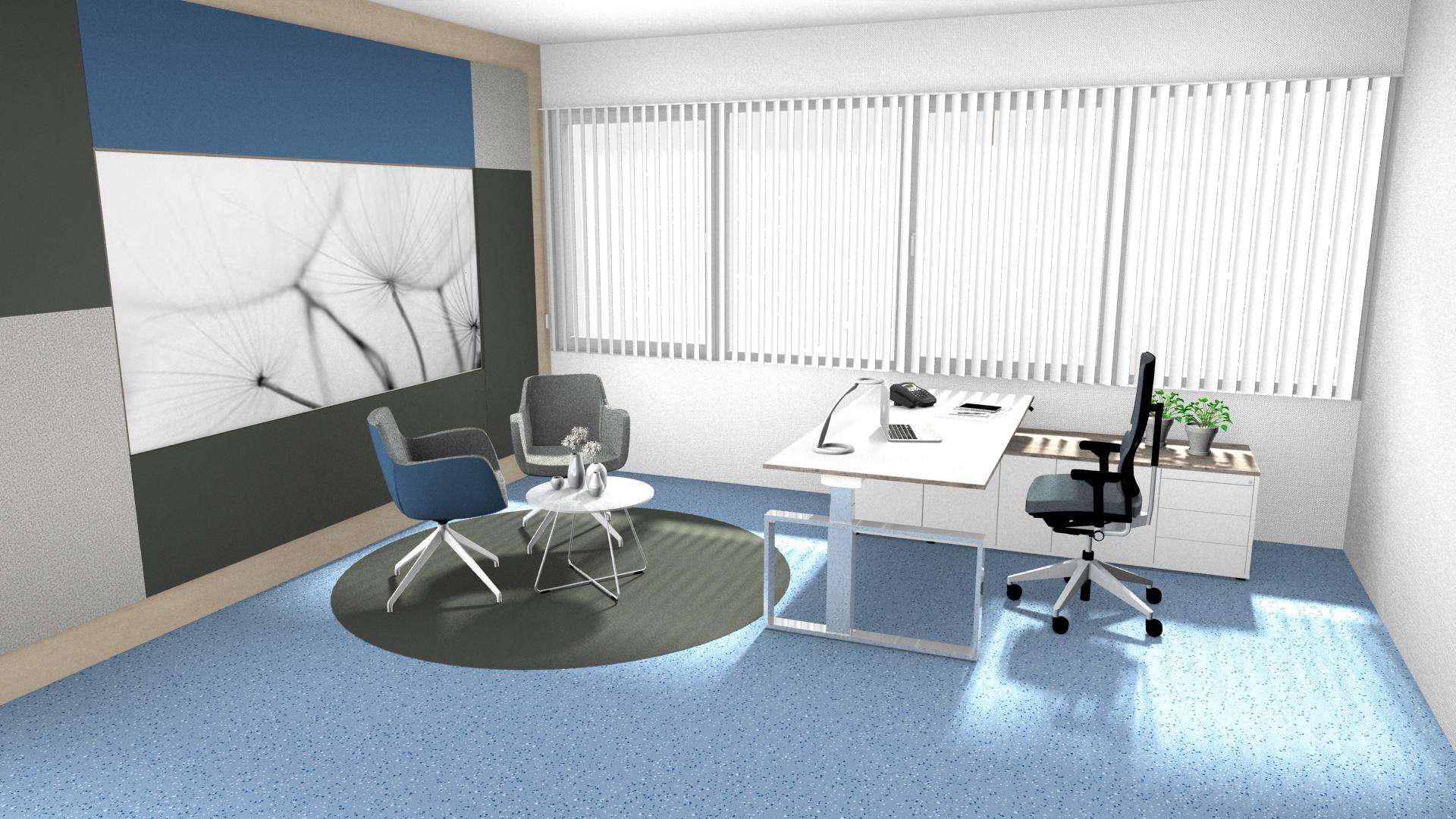 Einzelbüro höhenverstellbaren Tisch